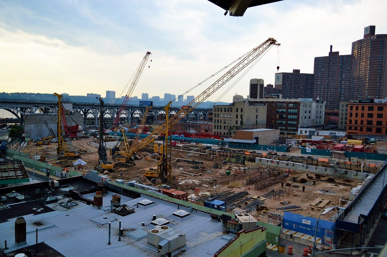construction site, harlem, new york