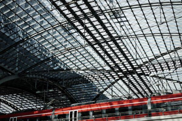 glass roof, railway station, berlin