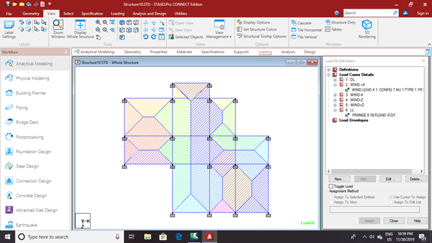 Design and analysis of a G+5 residential building using- Staad.Pro