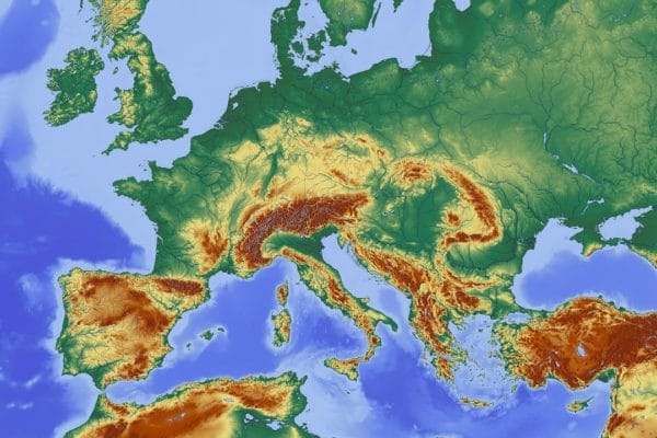map, central europe, europe