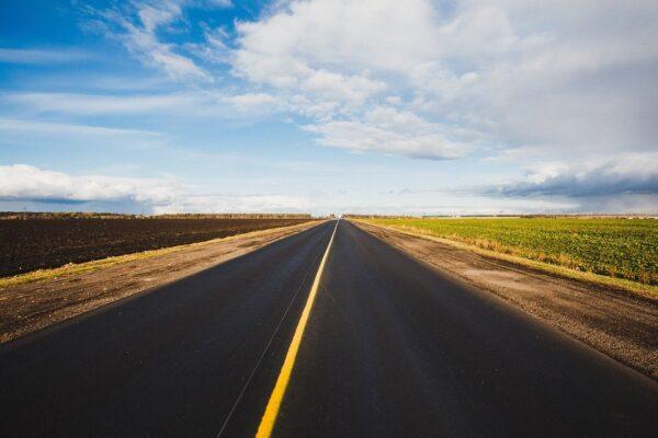road, asphalt, sky