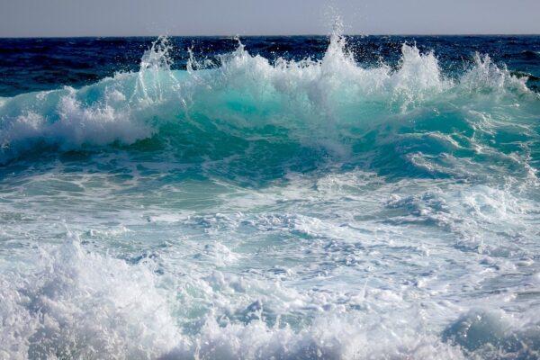 wave, splash, ocean