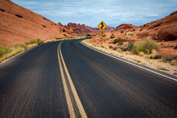 road, highway, desert